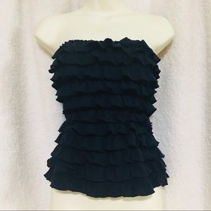 HOLLISTER • Navy Blue Tube Top • Small